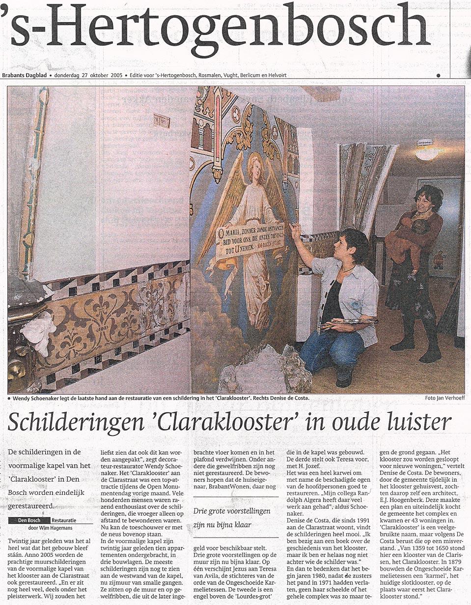 Schilderingen Claraklooster in oude luister