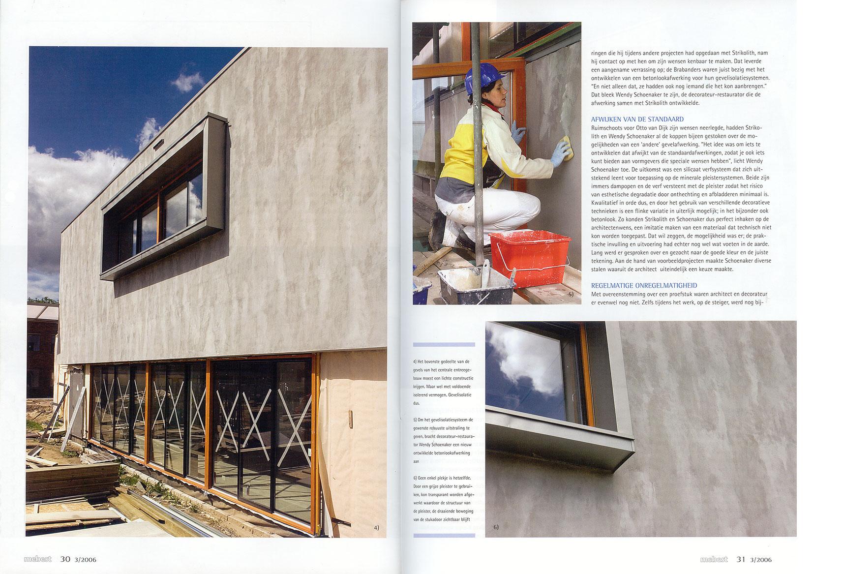 Ruwe bolster, blanke pit, betonlook blz 6 en 7