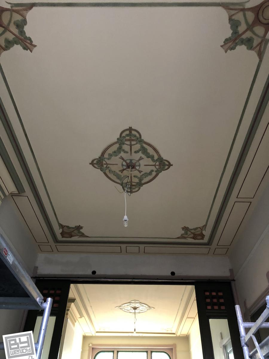 Vughterstraat, bywendy, plafond, restauratie, Den Bosch, wendyschoenaker