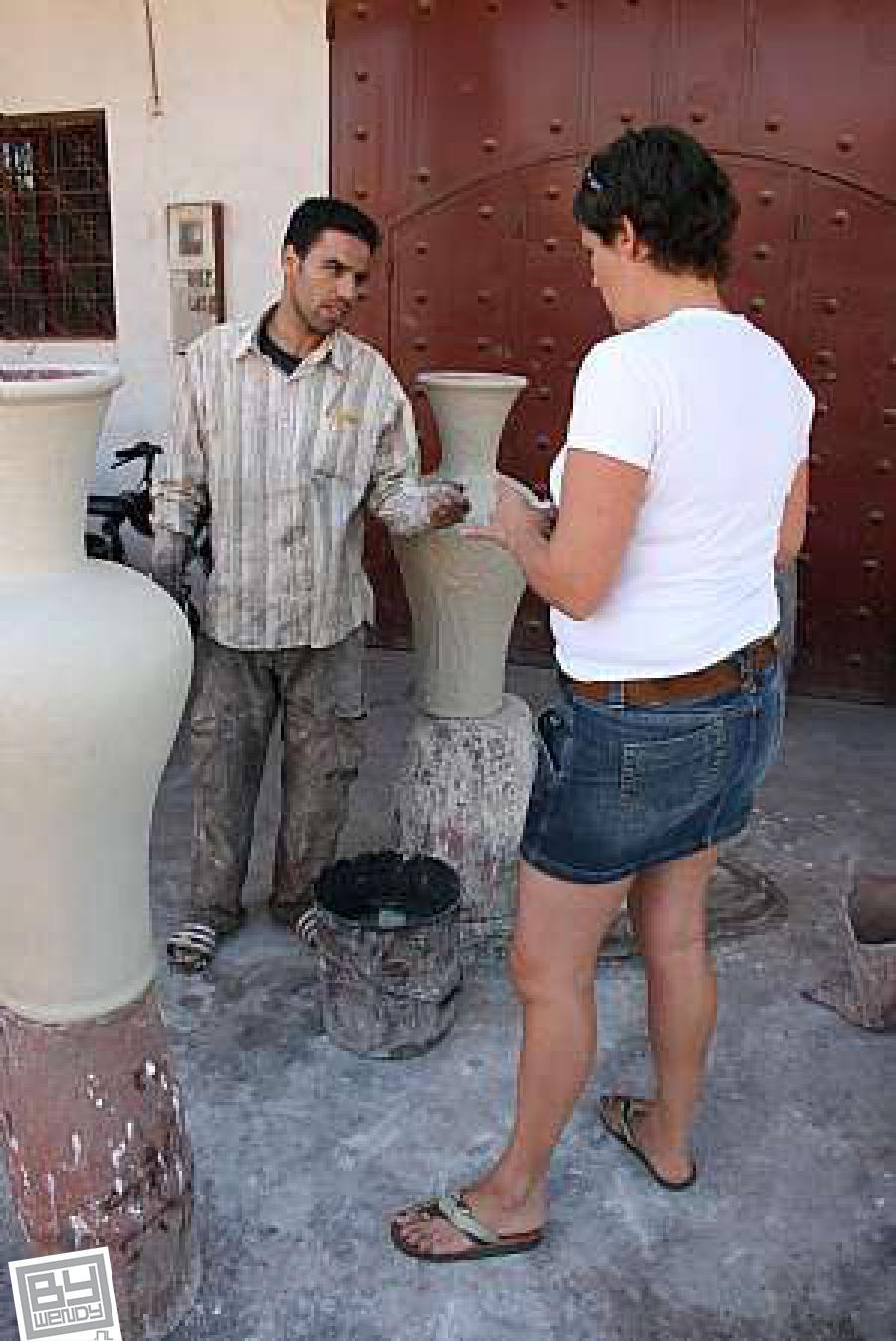 Oktober 2010 - Tadelakt werkplaats - Marrakesh